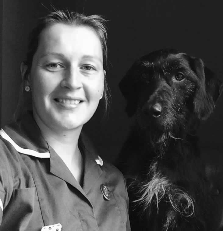 kate vet nurse and dog Melton Mowbray